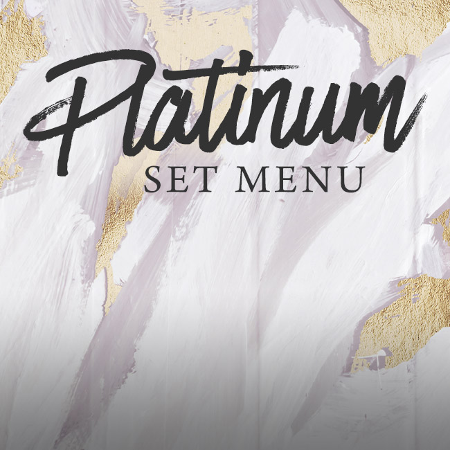Platinum set menu at The Old Bull & Bush