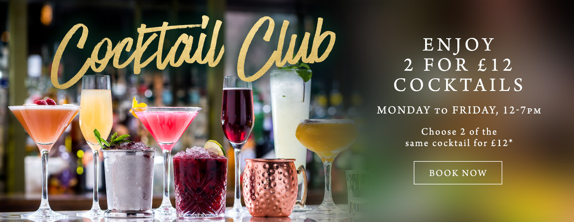 2 for £12 cocktails at The Old Bull & Bush